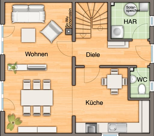 Raumwunder 100 Trend Floorplan 1