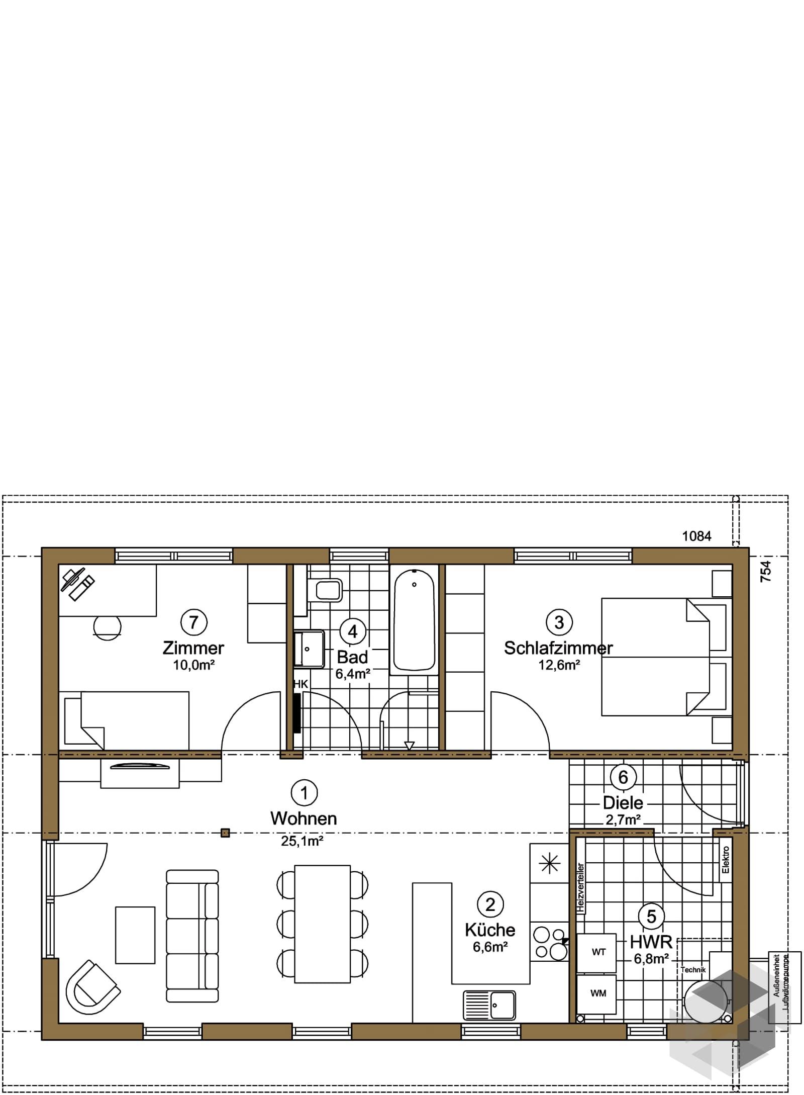 reers 70 inactive von ebk haus komplette. Black Bedroom Furniture Sets. Home Design Ideas
