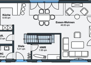 Ausstellungshaus Rheinau-Linx - sunshine Grundriss