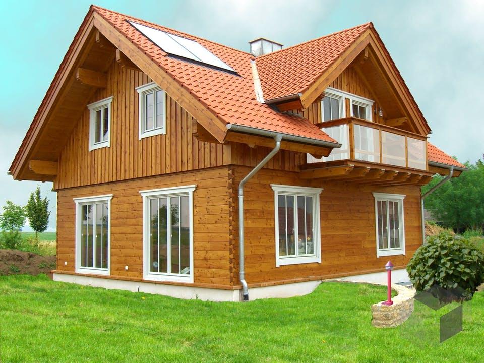 Rheintal von Tirolia Blockhaus Außenansicht