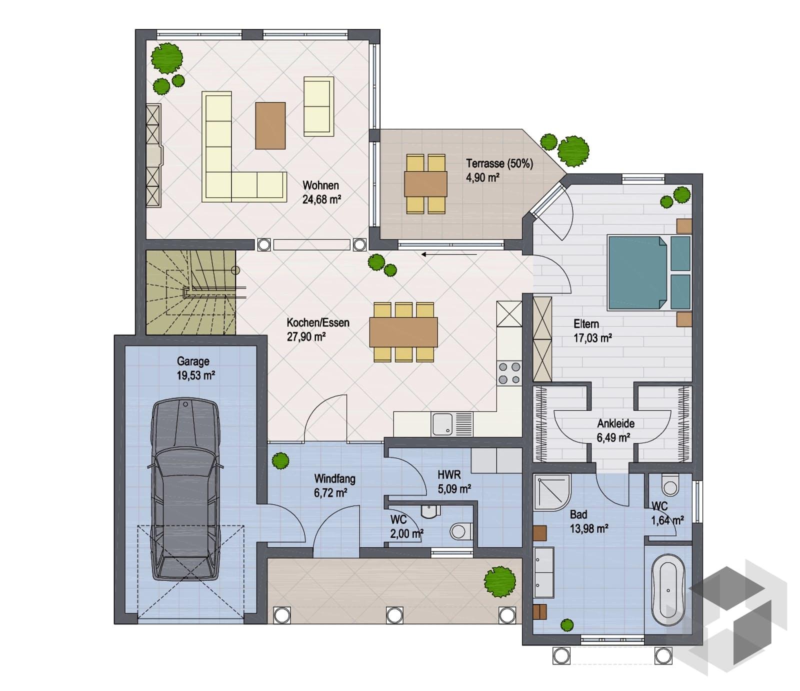 villa roma iii von argisol bausysteme bewa gmbh. Black Bedroom Furniture Sets. Home Design Ideas