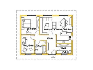 Rosi 4 (KfW-Effizienzhaus 40) von Dammann-Haus Grundriss 1