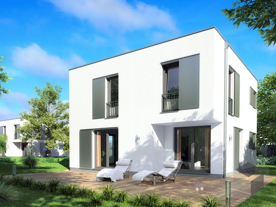 Bauhaus I von Rostow Massivhaus Außenansicht