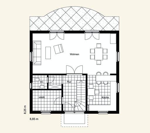 Rostow Berlin 120 Floorplan 1
