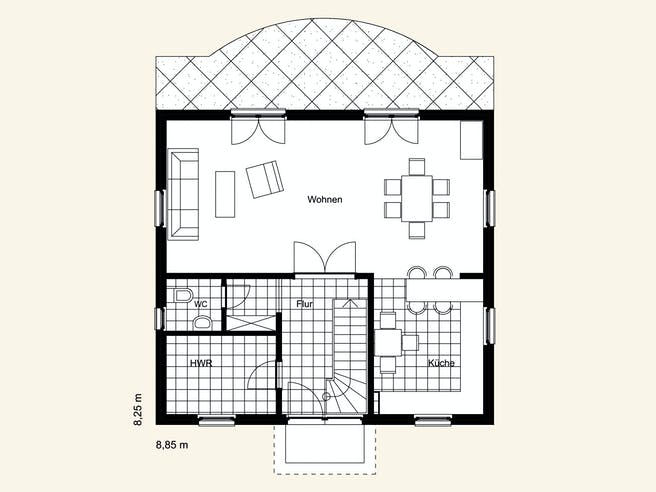 Rostow Berlin 120 Floorplan 1