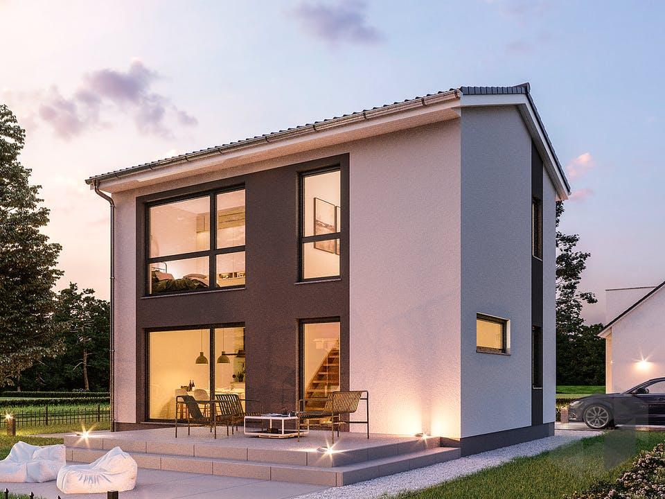 Minimassiv-Haus Fehmam von ROTH-MASSIVHAUS Außenansicht