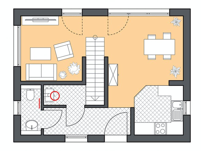 Roth Massiv - Minimassivhaus Fehmam Floorplan 1