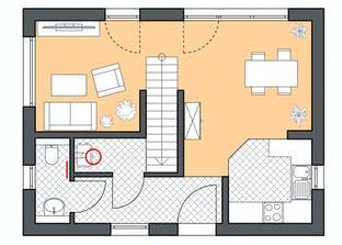 Minimassiv-Haus Fehmam Grundriss