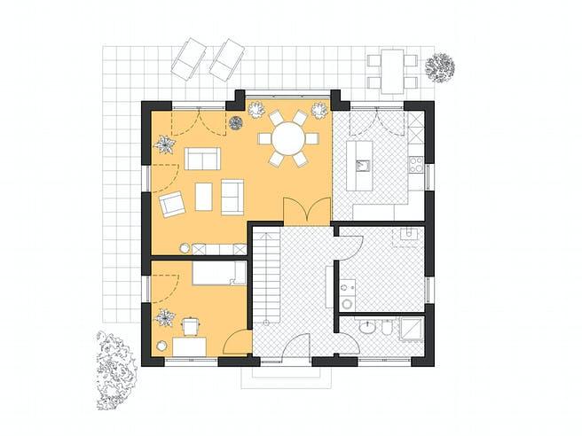 Haus Hamburg von ROTH-MASSIVHAUS Grundriss 1