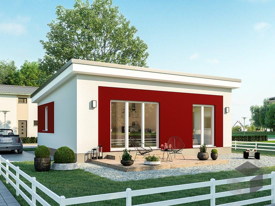 Minimassiv-Haus Hiddensee von Roth-Massivhaus Außenansicht