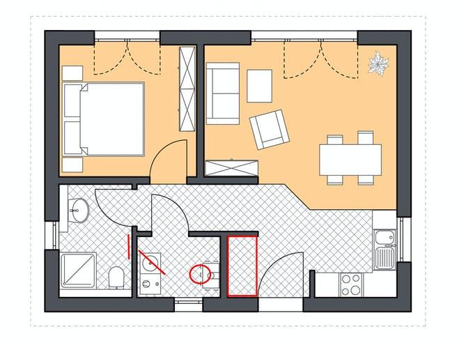Roth Massiv - Minimassivhaus Hiddensee Floorplan 1