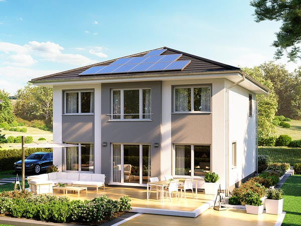 Stadtvilla mit Solardach von Roth-Massivhaus