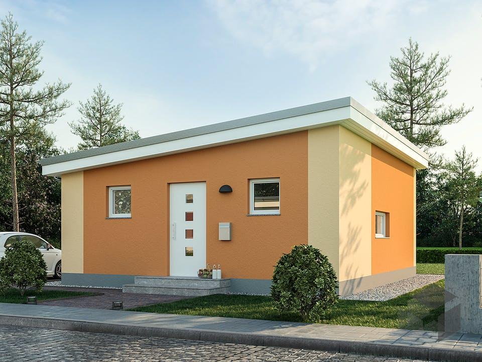 Minimassiv-Haus Poel von Roth-Massivhaus Außenansicht