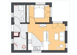 Minimassiv-Haus Poel Grundriss