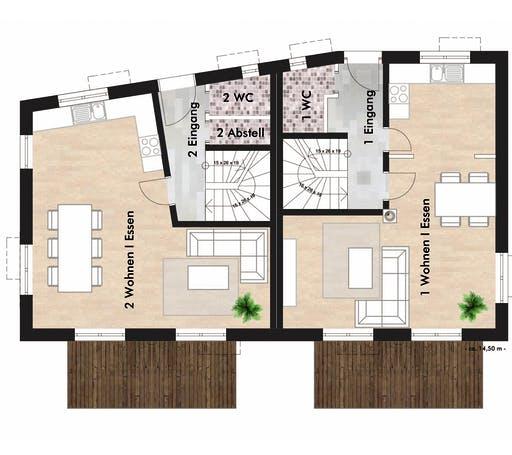 SAALE-Haus Born & Schneider Floorplan 1