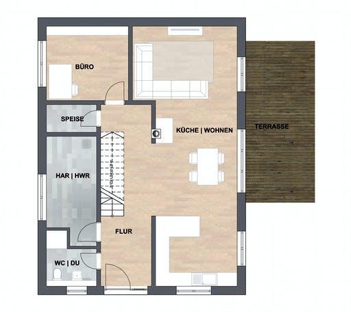 SAALE-Haus Fuchs Floorplan 1