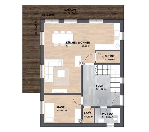 SAALE-Haus Joensen Floorplan 1