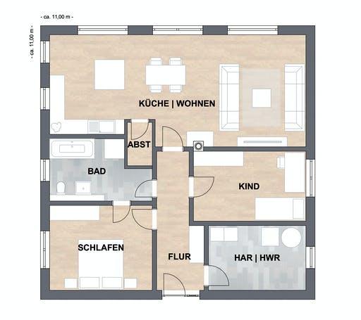 SAALE-Haus Klein Floorplan 1