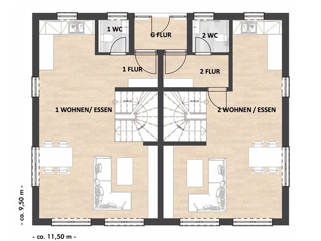 SAALE-Haus Richter & Schwarz Floorplan 1