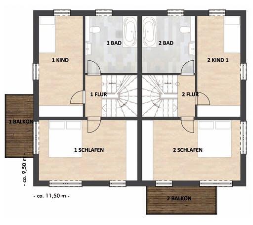 SAALE-Haus Richter & Schwarz Floorplan 2