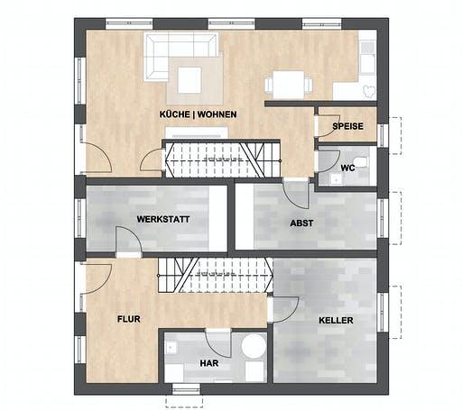 SAALE-Haus Rother Floorplan 1