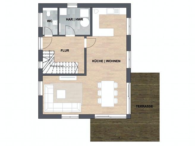 SAALE-Haus Silvia Floorplan 1