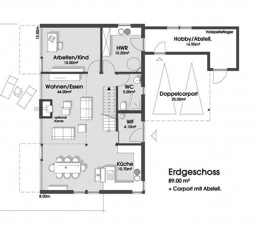 Sabine (KfW-Effizienzhaus 55) floor_plans 0