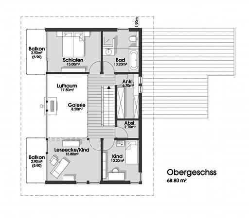 Sabine (KfW-Effizienzhaus 55) floor_plans 1