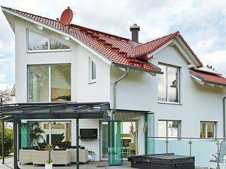 Satteldach Landhaus 144 von LUXHAUS Außenansicht 1