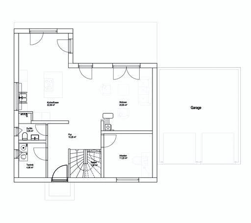 Luxhaus SD Landhaus 151 Floorplan 1