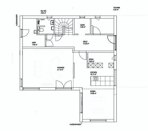 Luxhaus SD Landhaus 200 Floorplan 1