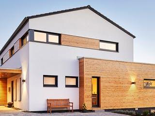 Satteldach Landhaus 207 von LUXHAUS Außenansicht 1