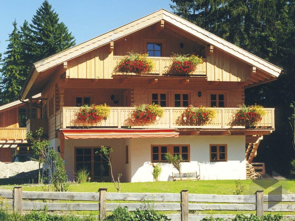 Schongau von Tirolia Blockhaus Außenansicht