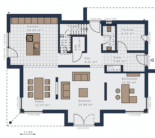 Schwabenhaus - Selection E-169 E1 Floorplan 1