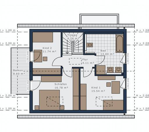 Schwabenhaus - Sensation-E-132 E1 Floorplan 2