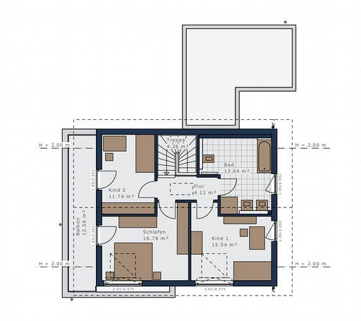 Schwabenhaus Sensations-E132 E6 Floorplan 2