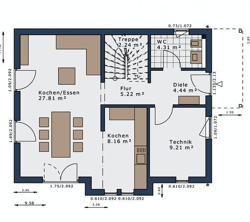 Schwabenhaus - SmartSpace E-120 E1 Floorplan 1