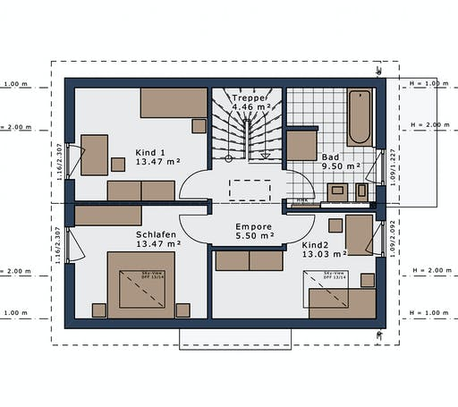 Schwabenhaus - SmartSpace E-120 E1 Floorplan 2
