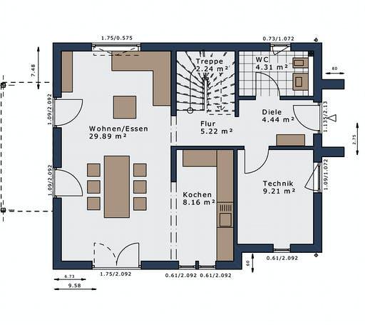 Schwabenhaus - SmartSpace E-120 E3 Floorplan 1