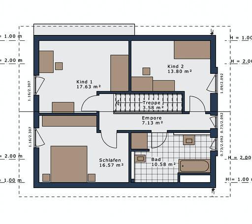 Schwabenhaus - SmartSpace E-140 E1 Floorplan 2