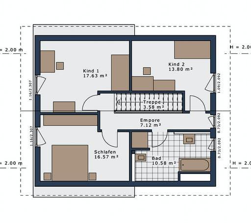 Schwabenhaus - SmartSpace E-140 E3 Floorplan 2