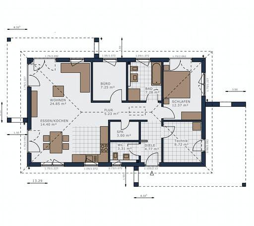 Schwabenhaus - Solitaire-B-090 E2 Floorplan 1