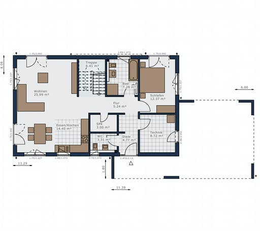 Schwabenhaus - Solitaire-B-090 E5 Floorplan 1