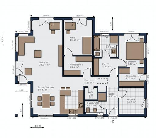 Schwabenhaus - Solitaire-B-110 E3 Floorplan 1