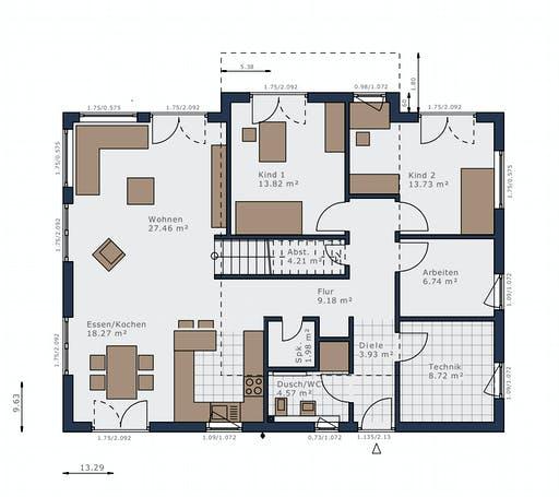 Schwabenhaus - Solitaire-B-110 E6 Floorplan 1