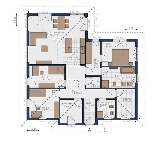 Schwabenhaus - Solitaire-B-130 E1 Floorplan 1