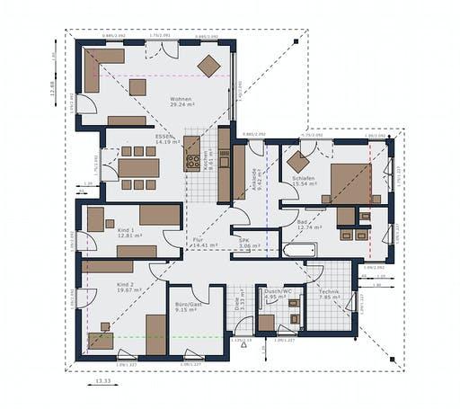 Schwabenhaus - Solitaire-B-130 E4 Floorplan 1