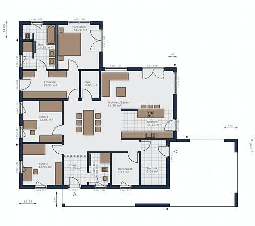 Schwabenhaus - Solitaire-B-150 E4 Floorplan 1