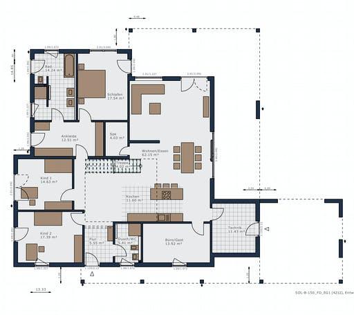 Schwabenhaus - Solitaire-B-150 E5 Floorplan 1