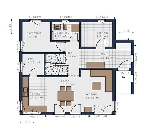 Schwabenhaus - Solitäire E-145 E2 Floorplan 1